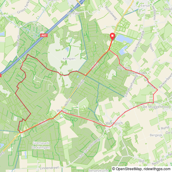 Cycle map Eersel, Netherlands