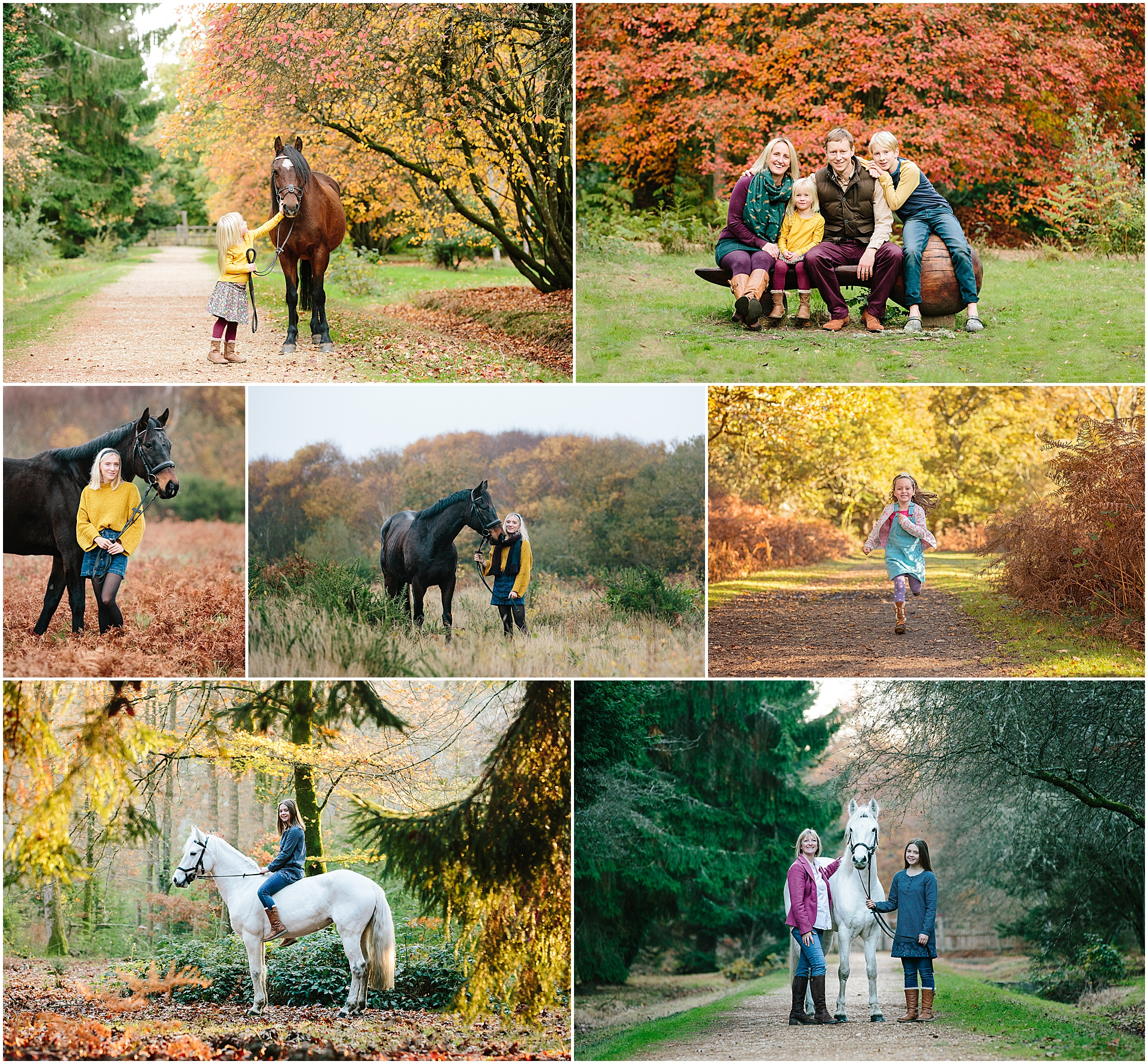 Autumn equine and family photoshoots