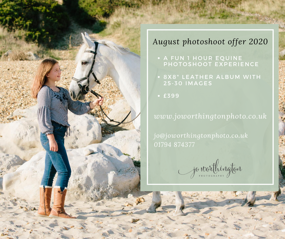beach equine photoshoot offer