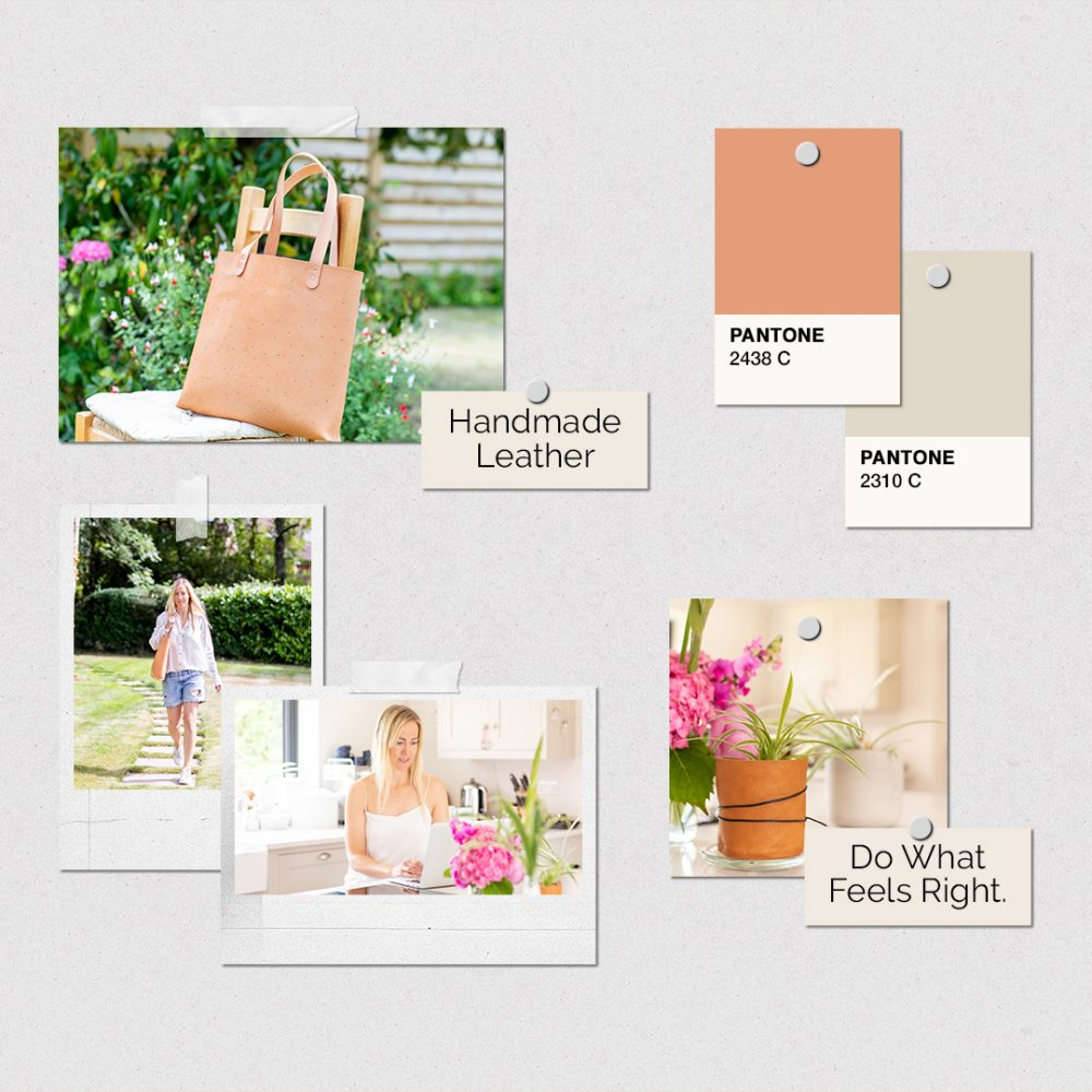 mood board bag branding