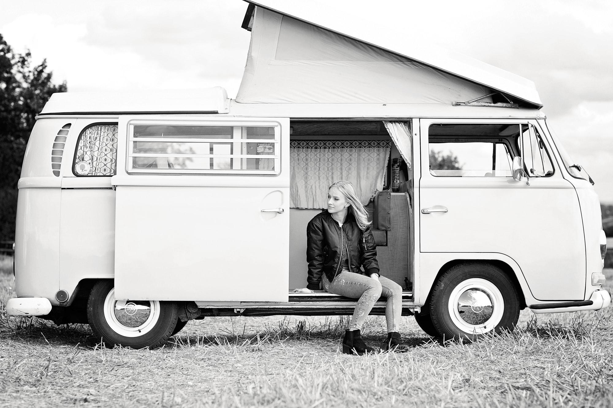 singer campervan album photoshoot