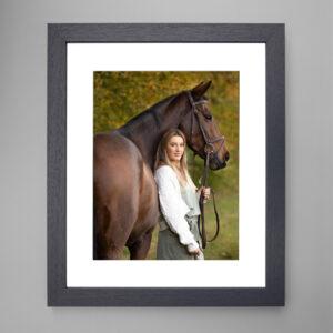 framed image Equine photoshoot vouchers