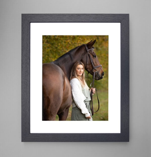 framed image Equine photoshoot vouchers