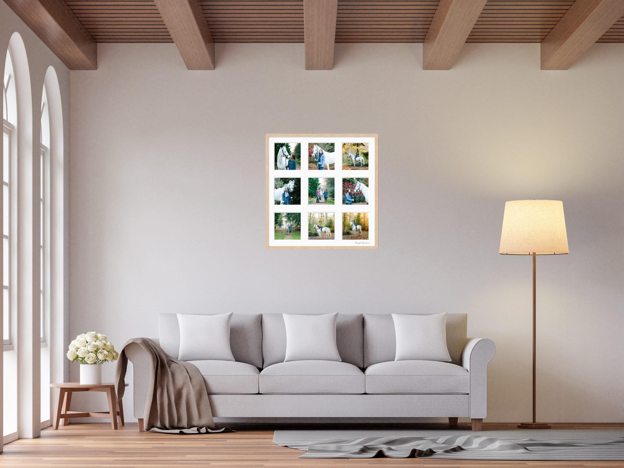 Scandinavian living room 3d rendering image
